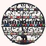 AISHN 5 Etagen Organizer Display Rack Aufbewahrung konzipiert von Tree of Life Schwarz