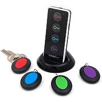 Vodeson Localisateur d'objets (clés, portefeuilles...) avec LED Porte Clés Siffleur Key Finder Anti-perte--- aucune…