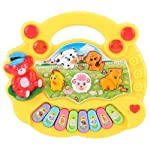 MOGOI Toddler Animal Piano, Baby Cute Animal Piano Keyboard Musical Toys Animal Sounds Recognition Skills Learning Piano...