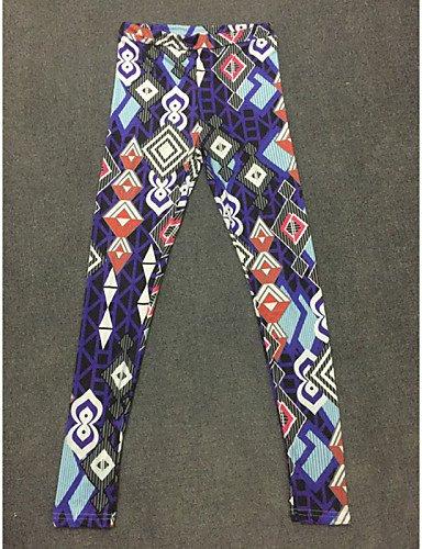 PU&PU Legging A Motifs Moyen Polyester Femme MULTICOLOR-XL