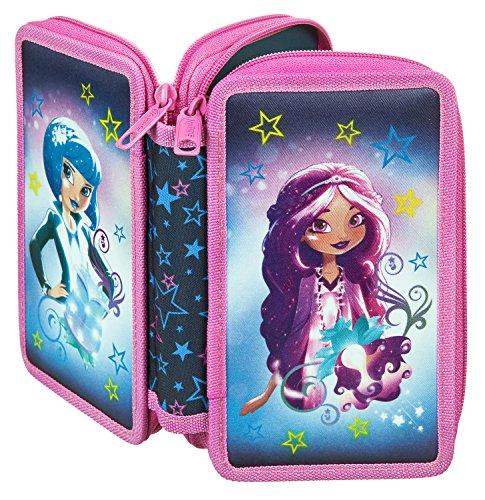 Scooli SDYO7252 Sporttasche Disney Star Darlings, ca. 35 x 16 x 24 cm Doppeldecker Schüleretui
