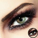 Farbige PREMIUM Kontaktlinsen - FIDELIO Beige-Brown - Silikon Hydrogel -