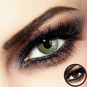 Farbige PREMIUM Kontaktlinsen – FIDELIO Beige-Brown – Silikon Hydrogel – 0.00 DPT (MIT und OHNE Stärke) – Monatslinsen von LUXDELUX® + GRATIS BOX