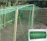 Red de jardín (5 x 4m)–Malla fina y resistente (10mm)–Polipropileno: cultivo y protección de vegetales, recipientes para frutas, protección de estanques, muchos otros usos - Utilizada para el cultivo profesional