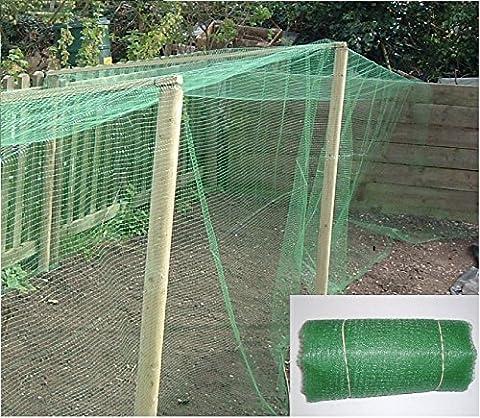 Ashnook Filet de protection pour cultures en polypropylène robuste à mailles fines, vert, 5 Metres long and 4 Metres wide