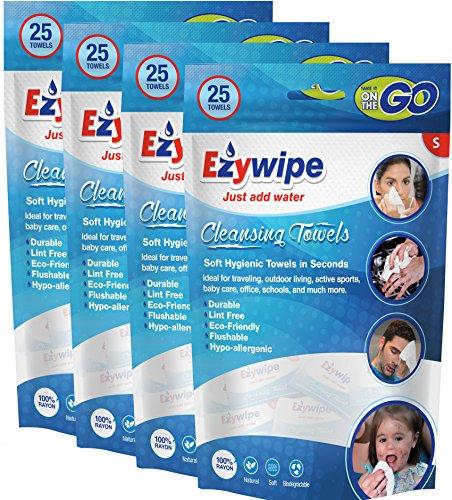 ezywipe komprimiert Cleansing Kleines Handtuch Candy Pack, hypoallergen, tragbar Kühlung Reisen Einweg (Einweg-bonbons)