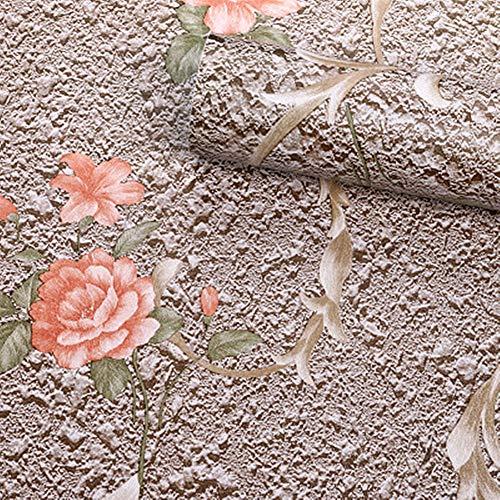 Amao Ton-Blumen-Kontaktpapier, Dekorativ für Arbeitsplatten, Selbstklebende Folie, zum Abziehen und Aufkleben von Tapeten für Schränke, Schubladen, Regale, 45 x 200 cm Natur One Size braun (Schrank Schublade Folien)