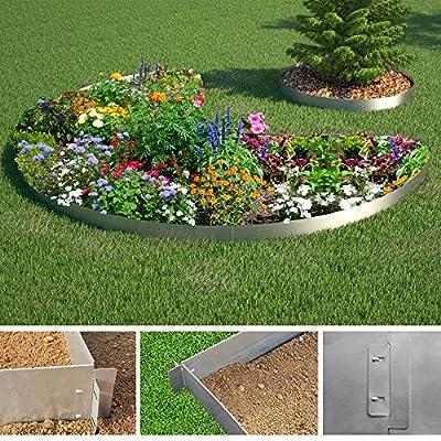 Rasenkante 5m 10m 15m 20m 30m 40m 50m 100x14cm oder 100x18cm verzinkt Beeteinfassung Beetumrandung Mähkante Metall Palisade von Serina auf Du und dein Garten
