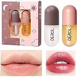 Natural Lip Plumping Set, Lip Enhancer and Day & Night Lip Care Serum Set for Fullness & Moisturizing Lips