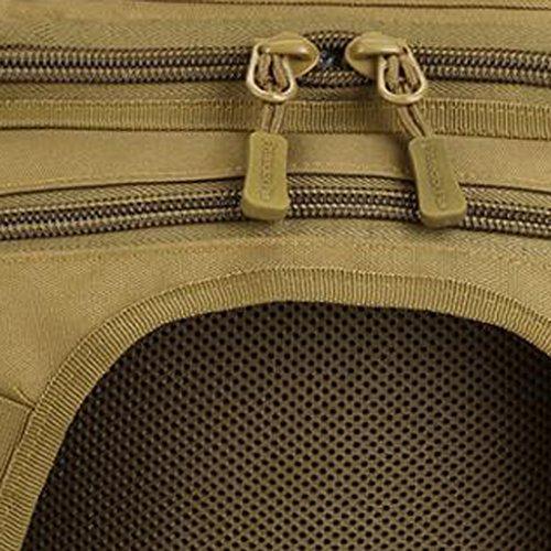 Gazechimp Herren, Männer Umhängetasche Taktische Schultertasche Outdoor Sporttasche Freizeittasche Braun