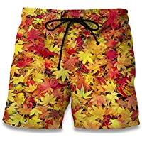 Westtreg Casual Beach Shorts 2017 Moda Maple Leaf Weeds 3D Print Hombres Summer Fitness Trunks Bermudas Ropa, XXL, a