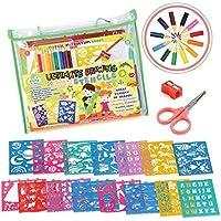 STENZTIME Set Definitivo di Stencil | Ampio Kit di 70 Stencil da Disegno e Oltre 260 Forme | Giocattolo Educativo Ideale e Kit Creatività | Il Regalo Perfetto per i Bambini per ogni occasione!