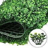 Maiaro Im Freien Privacy-Zaun-Efeu-Schirm-Künstliche Hecken-Buchsbaum-Pflanze Verschlüsseln 308 Nägel (40Cm × 60Cm),2Pieces