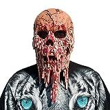 Kangrunmy Masque D'Horreur SoiréE DéGuiséE / Halloween / Carnaval Masque Zombie Sanglant Visage De Fonte Adulte Enfants Latex Costume Walking Dead Effrayant DéCorations Faciales