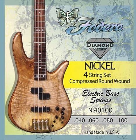 Doublure nI40100 4–string bass .040-.100 nickel set de cordes