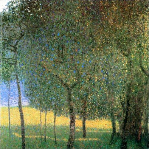 Poster 70 x 70 cm: Obstbäume am Attersee von Gustav Klimt - hochwertiger Kunstdruck, neues Kunstposter