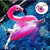 Flamant Gonflable Piscine Rose Sécurité Appropriée Bouee Flamingo Gonflable pour Adulte Enfants pour Passer des Vacances Sous la Mer ou Piscine Familiale