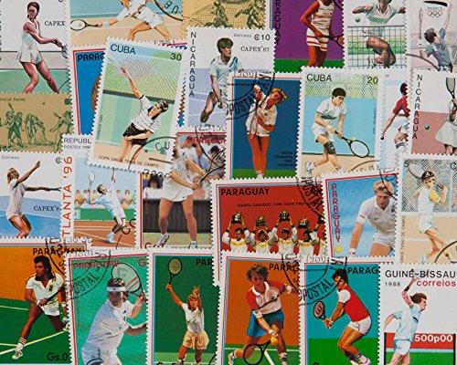 Goldhahn 25 Tennis-Sport Briefmarken für Sammler