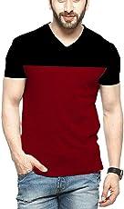 Cenizas Men's Half Sleeves V-Neck Casual Tshirt/T-Shirt