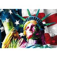 """1 Wall 1""""Estatua de la libertad EE. UU.–Patrice Murciano (no tejido para pegar en la pared Mural, madera, multicolor, 3,66x 2,53M"""