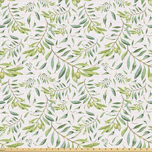 ABAKUHAUS Grünes Blatt ausdehnbar mit Elestan für Heimwerkarbeiten und Näharbeiten, Olivenbaum, Elestan für Heimwerkarbeiten und Näharbeiten, 1Meter, Avocado-Grün