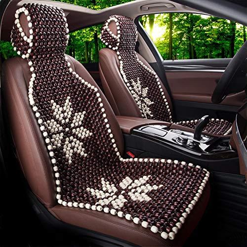 FAINT Autositzbezüge Autositz Kissen Holzperle StüCk Kissen Massage Silk Taille Pad EinzelstüCk Universal,C Taille Pad