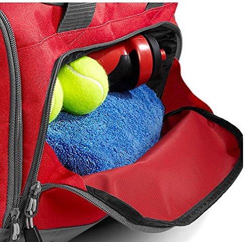 Sporttasche Multi mit Schuhfach mit Namen und Wunschmotiv (limegreen) rot