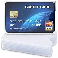 kwmobile Set 10 custodie protettive per tessere - Portacarte portatessere per carta di credito tessera sanitaria patente…