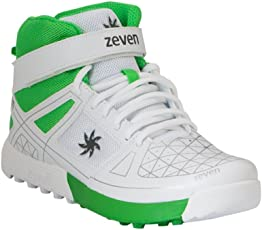 Zeven Blaze Mesh Cricket Shoes, Men's (White)