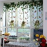 HongYa Raffrollos Schmetterling Voile Raffgardinen 1er-Pack B*H 80*200cm
