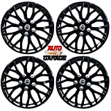 Hotwheelz Sporty Glossy Black 14-inch Wheel Cover with Rings(Set of 4pc, Platina Black)