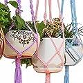 Mkono 1Colorful Makramee Pflanzenhänger Heavy Duty Terrasse Balkon Deck Deckenleuchte für runde Töpfe Container eckig Indoor Outdoor Deko-Pflanzen von Mkono auf Du und dein Garten