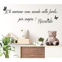 Adesivi Murali bambini Nome personalizzato con farfalle frase dedica amore Adesivo Murale cameretta Wall Stickers…
