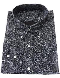 T-Shirt Noir/motif cachemire Men's Motif Vintage classique