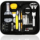 Repair Best Deals - H&S 144 Pcs Portable Watch Repair Tool Kit Set Back Case Opener Adjuster Strap Link Remover Spring Pin Bar Watchmaker Tools