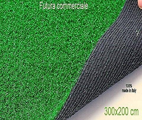 C.A. Gazon synthétique pour usage en extérieur, vert 300 x 200 m