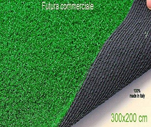 Césped Verde Hierba sintética Moqueta Alfombra 300x 200h para muebles jardín exterior