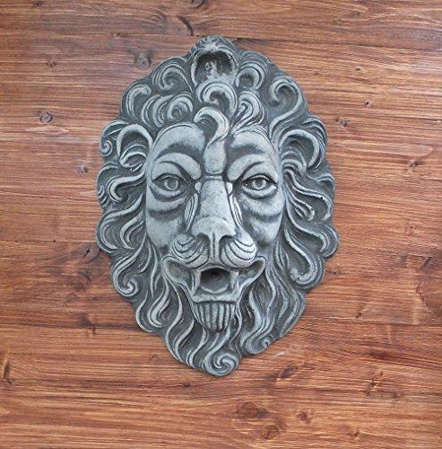 Steinfigur Löwen Kopf Löwenkopf Wasserspeier Tierfigur Gartenfigur Steinguss