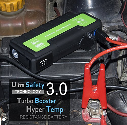 613kPKNLZIL - Maxesla Jump Starter de 18000mAh, 850A Batería Arrancador de Coche (Batería Externa Recargable, LED Flashlight,smartphones, tablets pc)