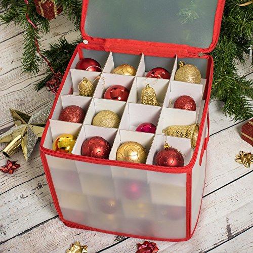 Bianco Scatola per 64 Decorazioni per Albero di Natale Standard ASAB