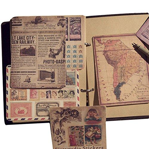 Blue Vessel Retro Aufkleber Passen Die Alte Karte Briefmarken Wirkung Alten Plakat Zu