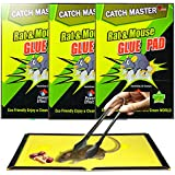 Auf Non-Toxic Rat Catcher Glue Pad with Picker and Food (22x17-inch) -Pack of 3
