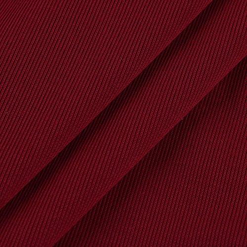 Topgrowth Donne Sexy Senza Spalline Felpa V-Collo Bendare Maglietta a Maniche Lunghe Solido Club Casuale Top Camicetta S-5XL Rosso