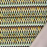 Bekleidungsstoff Softshell Fleece Groovy Graphic Retro gelb