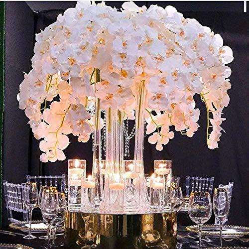 Für Party Seide Orchidee Künstliche Blumen 5 stück köpfe schmetterling orchidee Blumen für Hochzeit party home Decora hohe qualität (weiß)