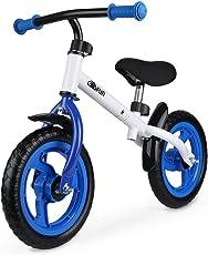 Gosfun Kinder Laufrad Lauflernrad Kinderrad 12 Zoll für Mädchen und Jungen Kinder Laufrad ab 2 Jahre,Blau