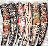 Loveso Temporary Tattoo Fake Slip Sleeves Arm Stockings (Random 6PCs)