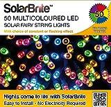 Guirlande lumineuse solaire d'éclairage multicolore 50LED lumières solaires &More.. Parties.