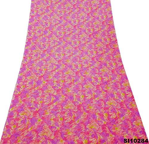Vintage Style gedruckt Sari Blumen gedruckt Vorhang Drapieren Art Decor DIY Stoff Blumen gedruckt Saree (Drapieren Vorhang Sari)