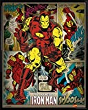 Iron Man Mini Poster et Cadre (Plastique) - L'Invincible, Marvel Comics (50 x 40cm)